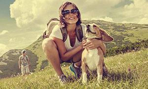 Urlaub mit Frau, Kind und Hund